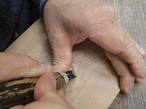 レリーフの彫り方見本