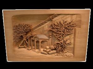 木彫 レリーフ作品