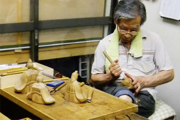 おひなさま 木彫