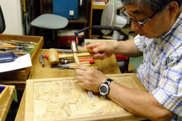 木彫教室の様子