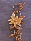 木彫り 植物 桔梗
