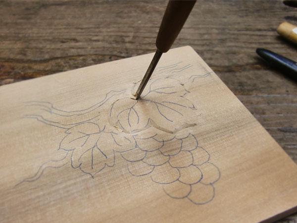 彫刻刀の角度見本