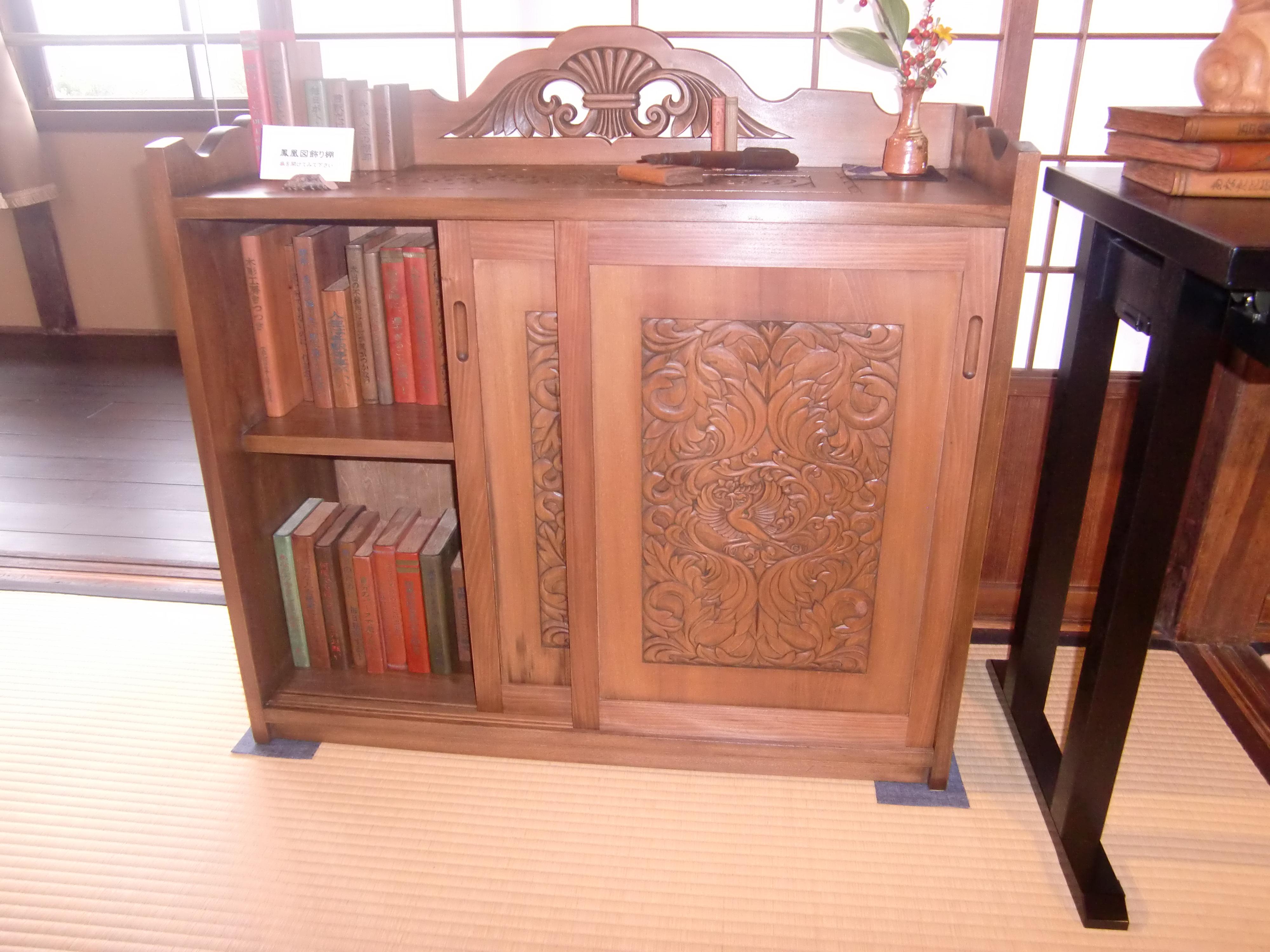 木彫 本棚のオーダー