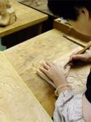 木彫り教室の様子